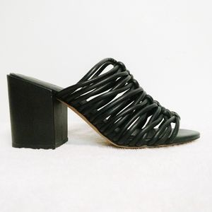NEW Rebecca Minkoff Black Calanthe Knotted Mules 7